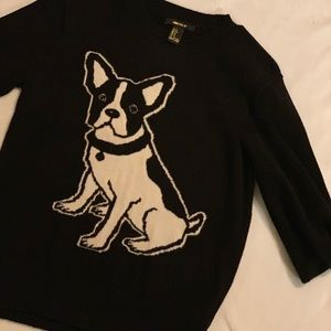 Frenchie Sweater Black & White perfect for Fall S